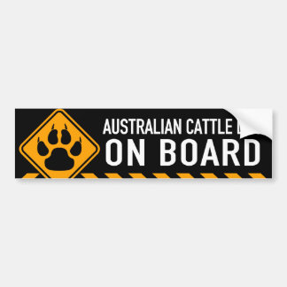 Australian Cattle Dog On Board Bumper Sticker