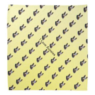 Australian Cattle Dog on Yellow Roses Kerchiefs