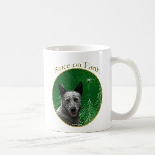Australian Cattle Dog Peace Coffee Mugs