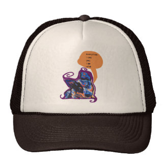 Australian Cattle Dog Pop Art with funny dog quote Cap