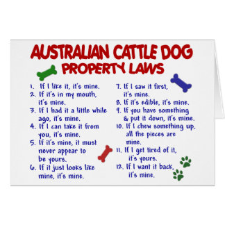AUSTRALIAN CATTLE DOG Property Laws 2 Card