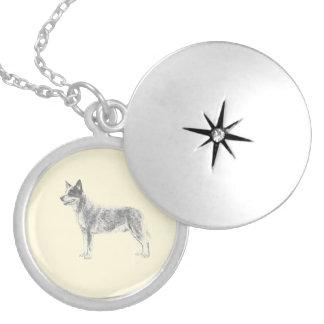 Australian Cattle Dog Round Locket Necklace
