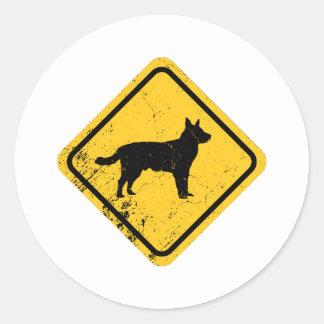 Australian Cattle Dog Round Sticker