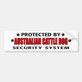 Australian Cattle Dog Security Bumper Sticker