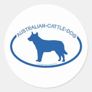 Australian Cattle Dog Silhouette Sticker