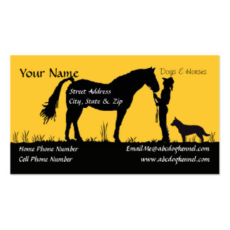 Australian Cattle Dog Sunset Silhouette Pack Of Standard Business Cards