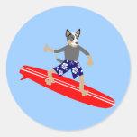 Australian Cattle Dog Surfer Sticker