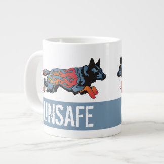 Australian Cattle Dog - Unsafe at any Speed Large Coffee Mug