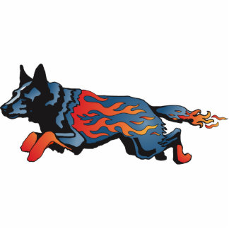 Australian Cattle Dog - Unsafe at any Speed Photo Sculpture Badge