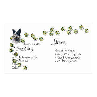 Australian Cattle Dog w/Gold Pawprints Pack Of Standard Business Cards