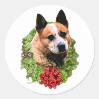 Australian Cattle Dog Wreath - Sticker