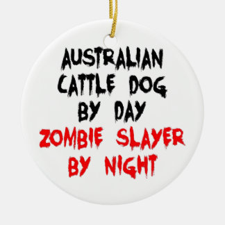 Australian Cattle Dog Zombie Slayer Christmas Ornament