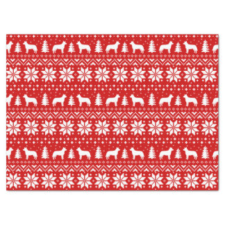 Australian Cattle Dogs Christmas Pattern Red Tissue Paper