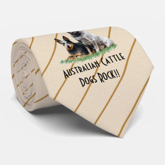 Australian Cattle Dogs double-sided printed Tie