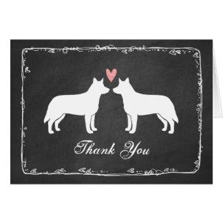 Australian Cattle Dogs Wedding Thank You Card