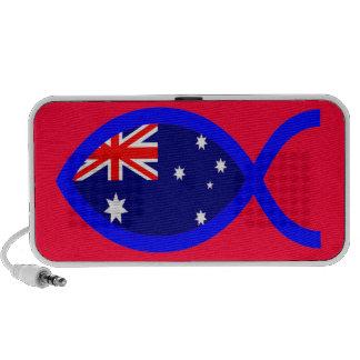 Australian ChrIstian Fish Symbol Flag Travel Speaker