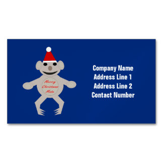 Australian Christmas Koala Bear Custom Magnetic Business Cards