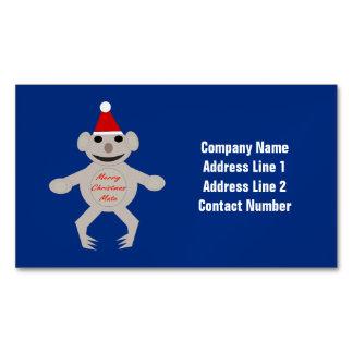 Australian Christmas Koala Bear Custom Magnetic Business Cards