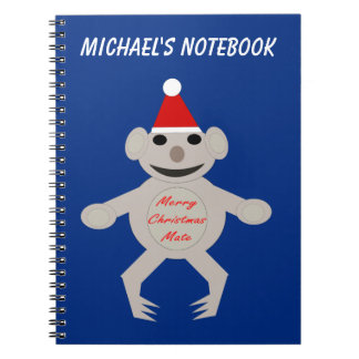Australian Christmas Koala Bear Custom Notebook