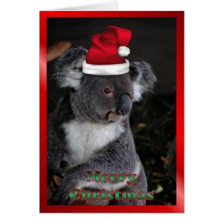 AUSTRALIAN Christmas koala xmas Christmas animals Card