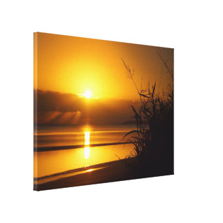 Australian coastal beach sunrise canvas print