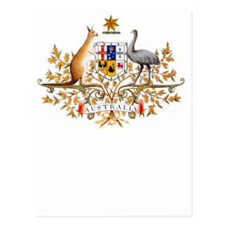 australian coat of arms postcard