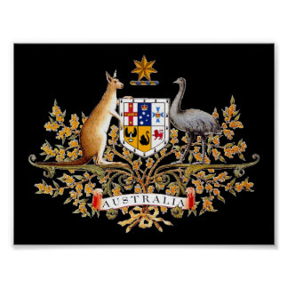 Australian Coat of Arms Print