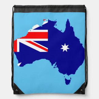 Australian country flag drawstring bag