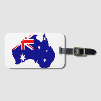 Australian country luggage tag