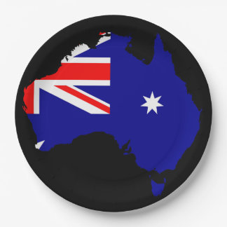Australian country paper plate