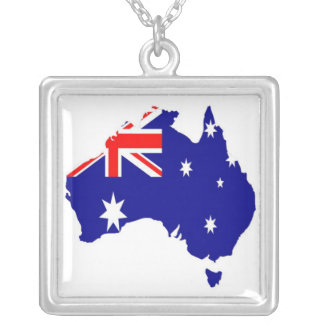 Australian country silver plated necklace