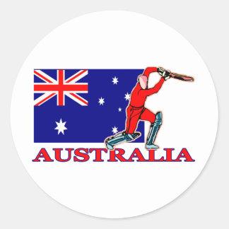 Australian Cricket Player Round Sticker