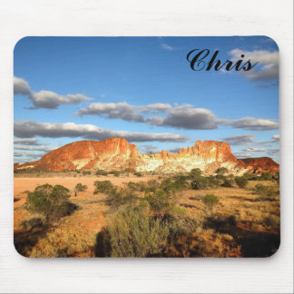 Australian desert mousepad with name