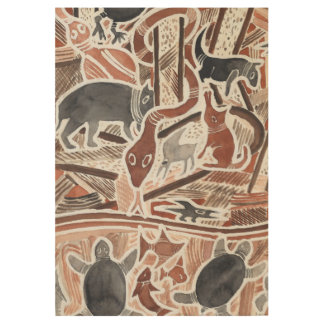 Australian Dreams Mythical Animals Snake Wood P Wood Poster