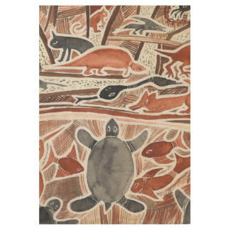 Australian Dreams Mythical Animals Turtle Wood P Wood Poster