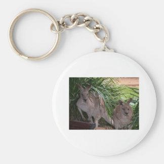 Australian Eastern Grey Kangaroo Key Ring