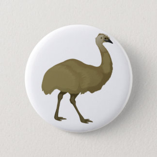 Australian Emu Bird 6 Cm Round Badge