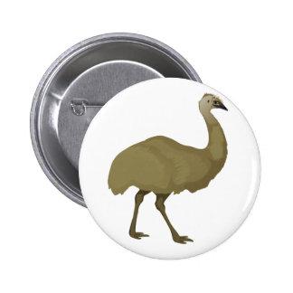 Australian Emu Bird Button