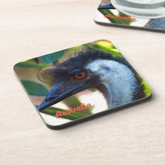 Australian emu drink coaster set