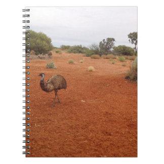Australian Emu in the outback notebook