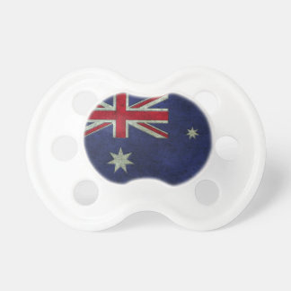Australian Flag Aged Steel Effect Baby Pacifiers
