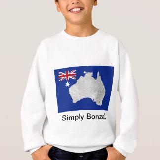 Australian Flag and Silhouette Teen Kid's T-Shirt