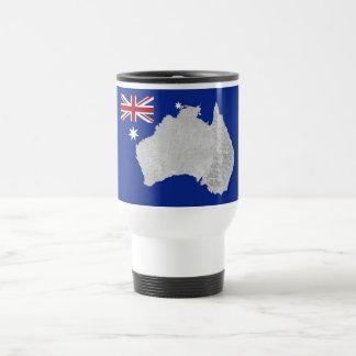 Australian Flag and Silhouette Travel Mug