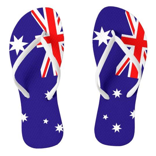 f4580917e7ca Australian flag beach flip flops for men and women