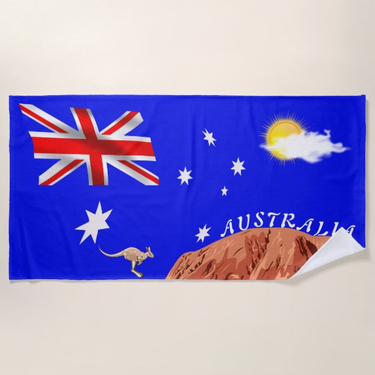 Beach Blanket Australia: Australian Flag Beach Towel