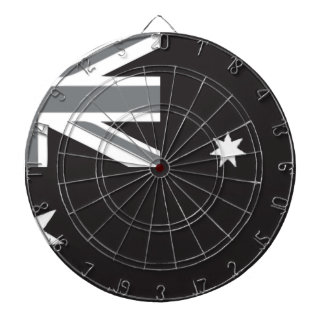 Australian Flag Black and White Dartboard