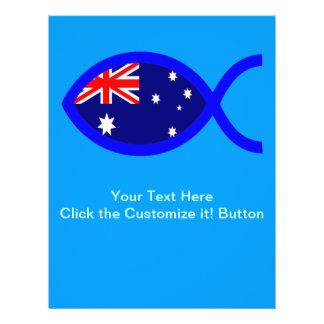Australian Flag Christian Fish Symbol Custom Flyer