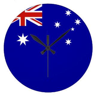 Australian flag round clocks