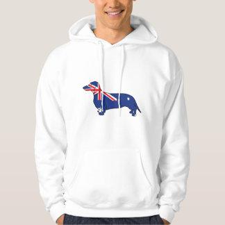 Australian Flag Dachshund Hooded Pullovers