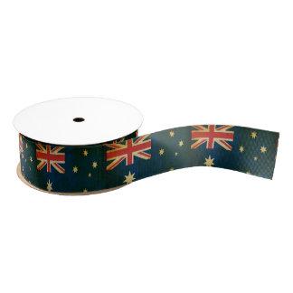 Australian Flag Fancy Custom Ribbon Grosgrain Ribbon